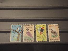 NIGER - 1984 UCCELLI  4 VALORI - NUOVI(++) - Nigeria (1961-...)