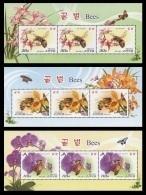 North Korea 2013 Mih. 6002/04 Fauna. Bees (3 M/S) MNH ** - Korea (Nord-)