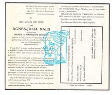 DP Agnes J. Raes / Decoene 25j. ° Ledegem 1922 † 1948 / Eeckhout - Images Religieuses