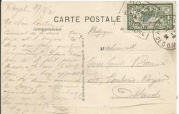 1907 - N°143 - Oblitéré (o) - Seul Sur Carte - ROYAT (Puyde Dôme) - France