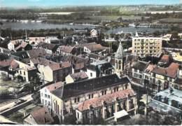 91 - RIS ORANGIS : Les Nouvelles Habitations ( HLM Cité Immeubles ) Jolie CPSM Dentelée Colorisée GF 1966 - Essonne - Ris Orangis
