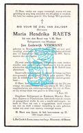 DP Maria Hendrika Raets ° Boom 1897 † Antwerpen 1940 X Jan Lodewijk Vermant - Images Religieuses