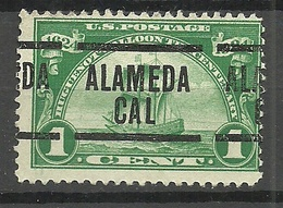 USA 1924 Michel 290 Pre-cancel ALAMEDA California - Precancels