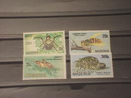 NIGERIA - 1986 INSETTI 4 VALORI - NUOVI(++) - Nigeria (1961-...)