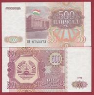 Tadjikistan  500 Rubles 1994 (UNC-NEUF) --(25) - Tadzjikistan