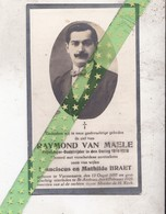 Raymond Van Maele-Braet, Varssenaere 1897, Sint-Andries 1929. Vrijwilliger Oud-strijder 14-18 - Décès
