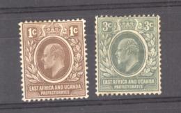 Afrique Orientale Britannique  & Ouganda  :  Yv  124-25  (*) - Protectorados De África Oriental Y Uganda