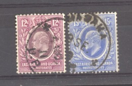 0ob  0477  -  Afrique Orientale Britannique & Ouganda   :  Yv  128-29  (o) - Protettorati De Africa Orientale E Uganda