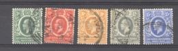 Afrique Orientale Britannique  & Ouganda  :  Yv  134-38  (o)  CA Multiple - Protettorati De Africa Orientale E Uganda