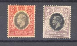 Afrique Orientale Britannique Et Ouganda  :  Yv  139-40  (*) - Protectorados De África Oriental Y Uganda