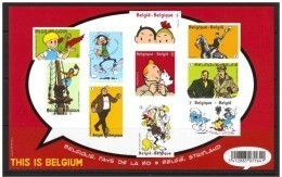 Blok 201** ONG. Bloc Tintin En Belgique, Pays De La BD** Non-Dentelée- Kuifje In België, Stripland- This Is Belgium XX - Belgium