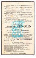 DP Leander Renquin ° Neerheylissem Hélécine ° 1871 † Meer Goetsenhoven Tienen 1942 X Alfredine Sevenans / Denis Masset - Images Religieuses