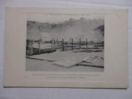 RARE CPA ALGÉRIE BOMBARDEMENT DE PHILIPPEVILLE 4 AOÛT 1914 INCENDIE DU CANTONNEMENT DE 4È CIE DU 3È ZOUAVES TBE - Skikda (Philippeville)