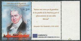 Peru 2002. Michel #1842 MNH/Luxe. 200th Anniversary Of Alexander Von Humboldt's Stay In Peru. (Ts10) - Perú