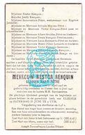 DP Marie Pétré ° Eliksem Landen 1915 † Tienen 1946 X Nestor Renquin / Cologne Bamps Moyens Strobbe Reynaerts - Images Religieuses
