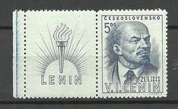 CZECHOSLOVAKIA Tschechoslowakei 1949 Michel 563 Zf Lenin MNH - Tschechoslowakei/CSSR