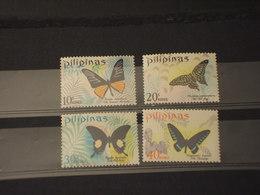 FILIPPINE - 1969 FARFALLE 4 VALORI - NUOVI(++) - Filippine