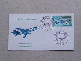 Polynésie Française Enveloppe Timbrée Premier Jour Mise En Service Du DC 10 McDonnell Douglas Corporation 18.05.1973 UTA - Publicités