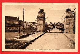 33. Guîtres. Le Pont Suspendu Sur L' Isle - France