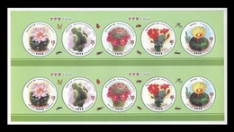 North Korea 2019 Mih. 6631/35 Flora. Cactus. Insects. Bees. Butterflies (M/S Of 2 Booklet Sheets) MNH ** - Korea, North