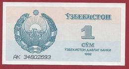 Ouzbékistan 1 Sum 1992  (UNC-NEUF) --(58) - Ouzbékistan