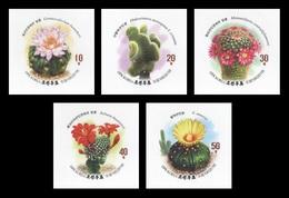 North Korea 2019 Mih. 6631B/35B Flora. Cactus (imperf) MNH ** - Korea, North