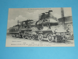 Train, Chemins De Fer, Les Locomotives Françaises, PLM P.L.M, Locomotive, Machine N° C 119 - Trains