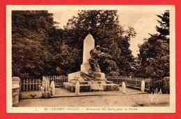 33. Guîtres. Le Monument Aux Morts Pour La Patrie ( 1914-18. Sculpteur Achard - 1923) - France