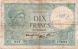 FRANCIA-10 FRANCS 7-11-1940 P-84a19 - 1871-1952 Antichi Franchi Circolanti Nel XX Secolo