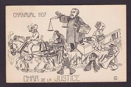 CPA Justice Avocat Satirique Caricature Deibler Guillotine Circulé - Satiriques