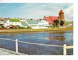 FALKLAND ISLANDS : PORT STANLEY / CPM N° 3777 Voyagée 1992  / Pliure !! - Falkland