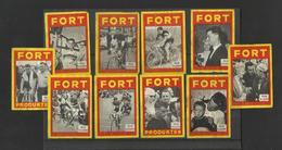 FORT - Lot Of 10 Matchbox LABELS (see Sales Conditions) S/0128 - Cajas De Cerillas - Etiquetas