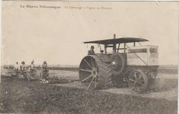 CPA   TRACTEUR  MAROC PITTORESQUE - Tractores