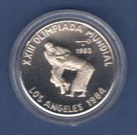 Cuba / Kuba  Silbermünze Los Angeles Olympische Sommerspiele 1984 PP  12g Ag999 - Münzen