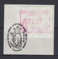 Südafrika RSA Sonder-ATM KAAPSTAD Von VS Mi.-Nr. 10.1 Wert 00,27 Auf Briefstück - Frama Labels