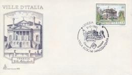 Italia 1980 FDC CAPITOLIUM Ville D'Italia Venezia Villa Foscari Malcontenta - Monumenti