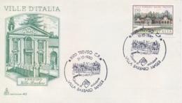 Italia 1980 FDC CAPITOLIUM Ville D'Italia Treviso Villa Barbaro Maser - Monumenti