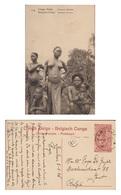 Entier Postal Postwaardestuk Jeune Fille Femmes Ababua Aux Seins NUS Nu Belgisch Congo Belge Afrique Ethnic Africa Naked - Congo Belge - Autres
