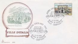 Italia 1981 FDC CAPITOLIUM Ville D'Italia Ercolano Villa Campolieto - Monumenti
