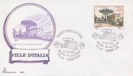 Italia 1981 FDC CAPITOLIUM Ville D'Italia Ravello Villa Cimbrone - Monumenti