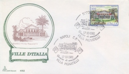 Italia 1981 FDC CAPITOLIUM Ville D'Italia Napoli Villa Pignatelli - Monumenti