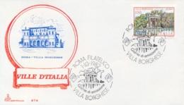 Italia 1982 FDC CAPITOLIUM Ville D'Italia Roma Villa Borghese - Monumenti