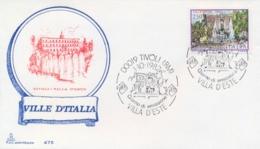 Italia 1982 FDC CAPITOLIUM Ville D'Italia Tivoli Villa D'Este - Monumenti
