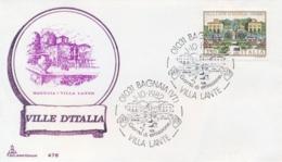 Italia 1982 FDC CAPITOLIUM Ville D'Italia Viterbo Villa Lante Di Bagnaia - Monumenti