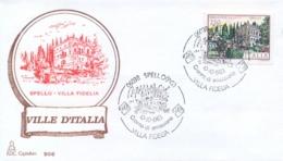 Italia 1983 FDC CAPITOLIUM Ville D'Italia Spello Villa Fidelia - Monumenti