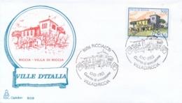 Italia 1983 FDC CAPITOLIUM Ville D'Italia Riccia Villa Di Riccia - Monumenti