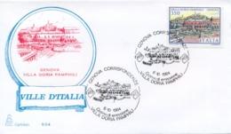 Italia 1984 FDC CAPITOLIUM Ville D'Italia Genova Villa Doria Pamphili - Monumenti