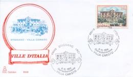 Italia 1984 FDC CAPITOLIUM Ville D'Italia Stignano Villa Caristo - Monumenti