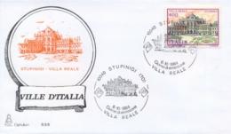 Italia 1984 FDC CAPITOLIUM Ville D'Italia Stupinigi Villa Reale - Monumenti