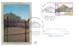 Italia 1984 FDC FILAGRANO Ville D'Italia Stupinigi Villa Reale - Monumenti